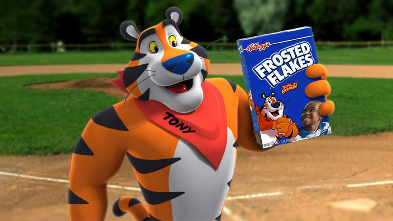 Tony the Tiger promoting Frosted Flakes